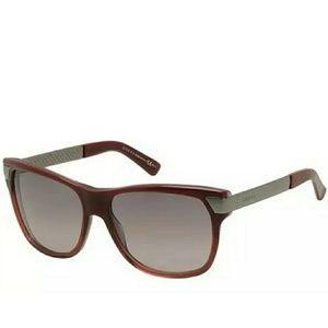 Gucci Red Gradient Metal Gun Grey Sunglasses